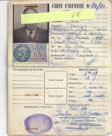 CARTE D'IDENTITE 1954  TOULON VAR - Mappe