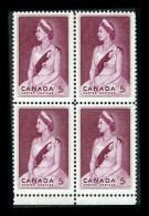 CANADA 1964, # 433,  ROYAL VISIT: QUEEN ELIZABETH 11, BLOCK  M NH - Blocks & Sheetlets