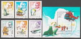 Hungary 1987 Ungarn Mi 3907-3912 + Block 190(3913) 75 Years Antarctic Research / 75 Jahre Antarktisforschung **/MNH - Zeezoogdieren