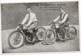 30628    - Anciennes  Motos  -  Acrobatie  Sur  Mur  Vertical - Miss  Madgray  Et  J  Klinger - Motos