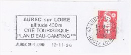 FRANCE. FRAGMENT. AUREC SUR LOIRE. 1996. FLAMME - Marcofilia (sobres)