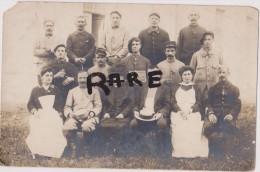 CARTE PHOTO,02,AISNE,CHAUNY EN 1918,NOS BLESSES DE VERDUN,MILITAIRE,MILITARIA,INFIRMIERE