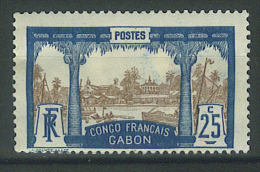 VEND TIMBRE DU GABON N° 39 , BLEU FONCE , NEUF !!!! - Unused Stamps