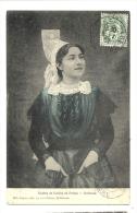 Cp, Folkore, Etudes De Coiffes Du Poitou, Mothaise, Voyagée 1907 - Costumes