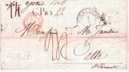 1846- Letter From STOCKHOLM  + STRALSUND + CP R5 - Different Ratings - Schweden