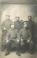 Carte Photo - ** Groupe De Poilus Du 158° RI De Bruyères ** - Carte En Bon état. - Guerre 1914-18
