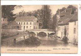 CONDE EN BRIE   Grand pont et moulin sur la Dhuys