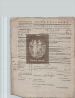Document  Du 28 VENTOSE AN 8 (19/03/1800) Commandement Subvention De Guerre - DEFER 75 Paris - Documenti Storici