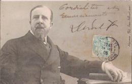 PAUL DEROULEDE (1846 1914) POETE AUTEUR DRAMATIQUE ROMANCIER NATIONALISTE FRANCAIS AUTOGRAPHE 1905 - Autographs