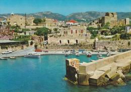 C P M---ASIE---LIBAN----LEBANON--BYBLOS---le Port Et La Citadelle---voir 2 Scans - Libano