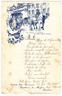 """Menu Illustré 130 X200 Mm - Saumur - Au Bon Vieux Temps - Menu Copieux Pour 1942 - Publicité """"Gratien & Meyer"""" - Menükarten"""