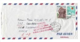 12351 - Lettre Du Cambodge Pour Lausanne 23.12.1970 Censure République Khmere Agressée Par Impérialistes Vietcong - Cambodge