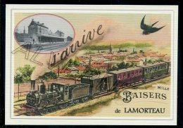 LAMORTEAU ..... Train  ... Souvenir  Creation Moderne Série Limitée Et Numerotée 1 à 10 ... N° 3/10 - Rouvroy