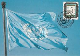 Nations Unies - Carte Postale 1er Jour - Vienne - Drapeaux - 1995 - 50ème Anniversaire - YT 198 - FDC
