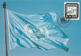 Nations Unies - Carte Postale 1er Jour - New York - Drapeaux - 1995 - 50ème Anniversaire - YT 667 - New-York - Siège De L'ONU