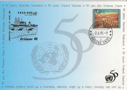 Nations Unies - Carte Postale - Genève Orléans - 1995 - Jeunesse - 50ème Anniversaire - YT 287 - Office De Genève
