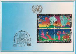 Nations Unies - Carte Postale - Genève Metz - 1992 - Sommet De La Planète - YT 227 228 229 230 - Genf - Büro Der Vereinten Nationen
