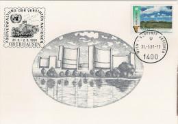 Nations Unies - Carte Postale - 1991 - Vienne - Naissance De La Namibie - YT 122 - Centre International De Vienne