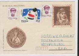 Pol193/ POLEN - , Rycheza + Zusatamarken 1989 Nach Norwegen - 1944-.... Republik