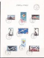 TAAF 1963 Archipel Kerguelen  9v Used On Sheetlet Ca Archipel Kerguelen 2-3-1966 (F3209) - Franse Zuidelijke En Antarctische Gebieden (TAAF)