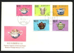 FDC 1991 Ancient Chinese Art Treasures Stamps - Teapot Flower Medicine - Drinks
