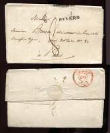 V8 -Lac -  Nevers 27 Avril 1823 - Pour Paris  -  - Taxée - 1801-1848: Précurseurs XIX
