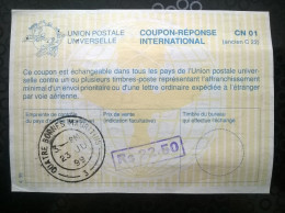 Coupon-réponse Quatre Bornes Mauritius De 1999 - Cupón-respuesta