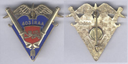 Insigne Du 403e Régiment D´Artillerie Antiaérienne - Army