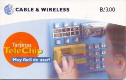 PANAMA PHONECARD(CHIP) CHILD USING CARDPHONE - -1/00  USED(1)