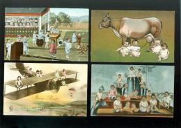 Beau lot de 20 cartes postales de fantaisie b�b�s multiples   Mooi lot van 20 postkaarten van meerdere baby's fantasie
