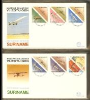 1987 - Rep. Surinam FDC E117AB - Antique and modern aeroplanes