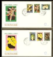 1992 - Rep. Surinam FDC E152AB - Flora 92 - Flowers - Orchids