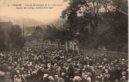 69 TARARE  Fête Des Mousselines (6 Et 7 Aout 1911) Course Des 100Kg , Avenue De La Gare - Tarare