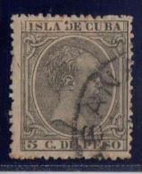 CUBA Nº 115. PUNTO EN LA D. - Cuba (1874-1898)