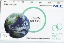 Télécarte Japon ESPACE * Phonecard JAPAN * SPACE SHUTTLE (774) * Rocket * LAUNCHING * SPACE WORLD * Rakete * - Spazio