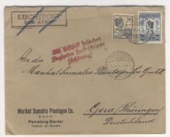 Niederl�ndisch Indien Brief 1932 nach Deutschland / Perfin Firmenlochung