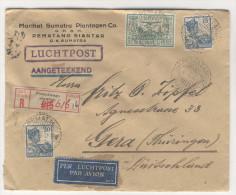 Niederl�ndisch Indien Brief 1930 nach Deutschland / Perfin Firmenlochung
