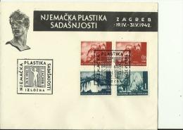 CROATIA   --  NDH   ---   FDC /   NJEMACKA PLASTIKA SADASNJOSTI  /  1942 - Croatia
