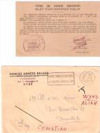 TITRE DE CONGE  DEFINITIF -  1967 - Documents