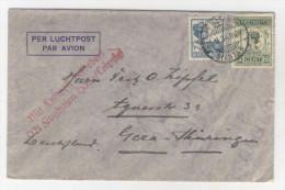 Niederl�ndisch Indien Brief 1934 nach Deutschland / Perfin Firmenlochung
