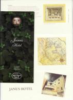 Italië Fabriano Hotel Janus Briefhoofd, Envellop En Documentatie - Hotel Labels