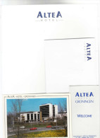 Nederland Groningen Hotel Reklame Altea Briefhoofd, Envellop & Postkaart - Hotel Labels