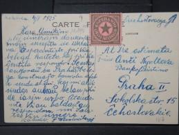 ESPERANTO - CP ECRITE EN ESPERANTO AVEC VIGNETTE  CP DE PARIS  POSTEE DE POLOGNE  1925 A VOIR  LOT P3965 - Esperanto