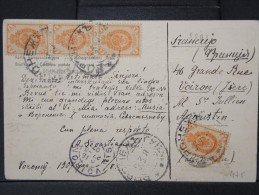 ESPERANTO - CP ECRITE EN ESPERANTO  DE  RUSSIE EN 1907 POUR VOIRON   PEU COMMUN A VOIR  LOT P3966 - Esperanto