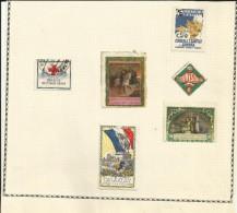 Vignettes Militaires - Delandre - Guerre 1914/18 - Lot De 6 Timbres - - Erinnophilie
