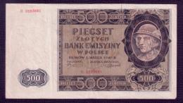 Poland 500 Zlotych 1940 F+ - Poland