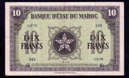 Morocco 10 Francs 1943 VF - Morocco