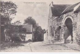 95 MONGEROULT  MONTGEROULT Entrée De FERME  Bâtiments Petit Chemin Timbré 1916 - Non Classés