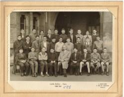 PHOTO 23,5 X 17,5 Cm GROUPE SCOLAIRE - Lycée Buffon 16 Boulevard Pasteur PARIS 15° : Classe 4° A2 B2 1956/57 - Personnes Identifiées