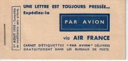 FRANCE : AIR FRANCE . CARNET DE VIGNETTES . PA . 01/08/35 . - Airmail